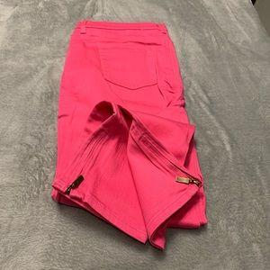 DG2 5 Pocket Hot Pink Ankle Jean Side Leg Zippers